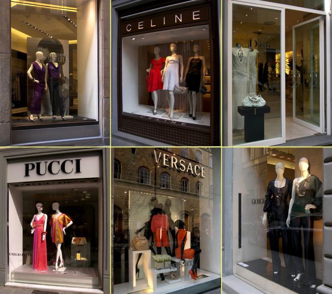 designer shopping florence gucci versace