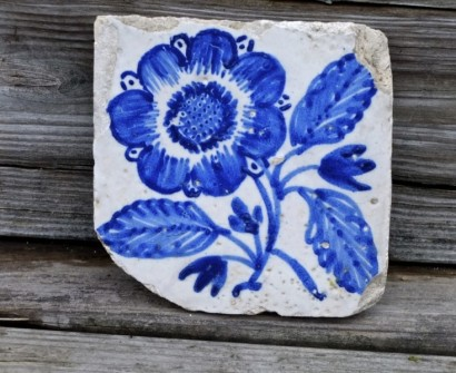 azulejo portugal blue white