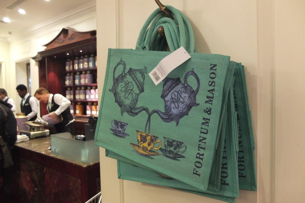 Fortnum and mason burlap tote bags