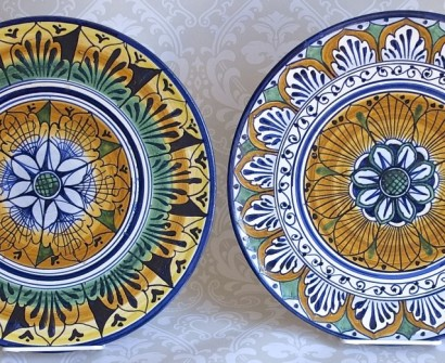 hand painted plates ceramics florence