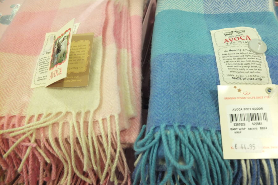 souvenir shopping Dublin Avoca baby wraps