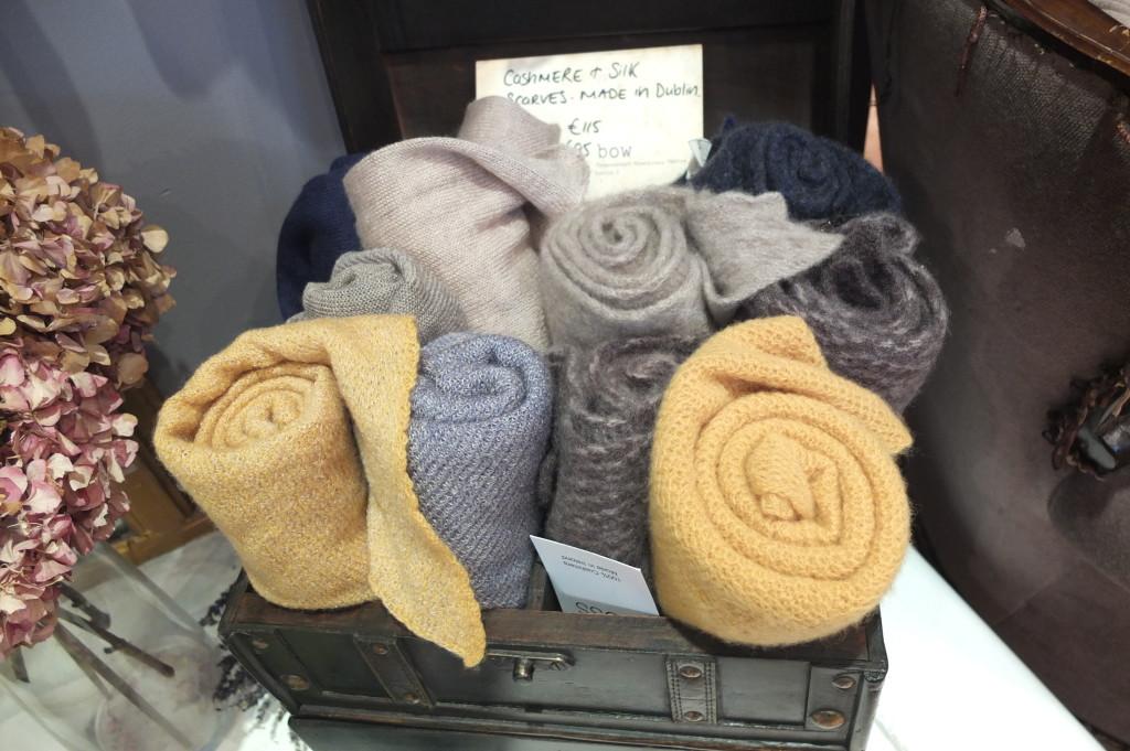 souvenir shopping dublin powerscourt center bow scarves cashmere and silk