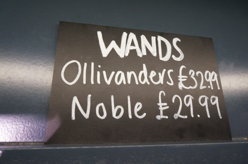 Harry Potter wand prices Harry Potter gift shop platform 9 3/4 Kings Cross london souvenir