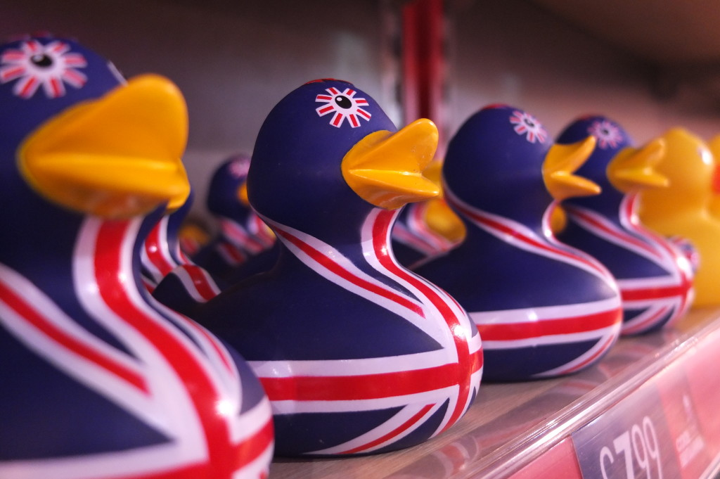 british souvenir rubber duck