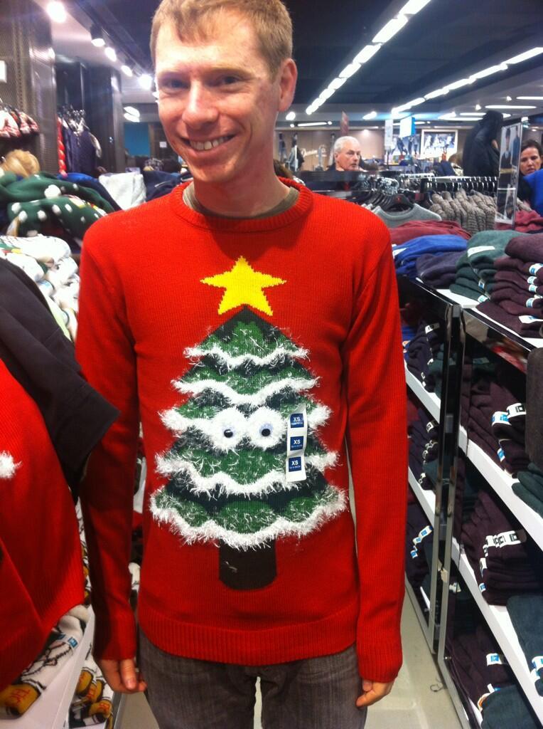 unique gift london christmas sweater googly eyes primark souvenir