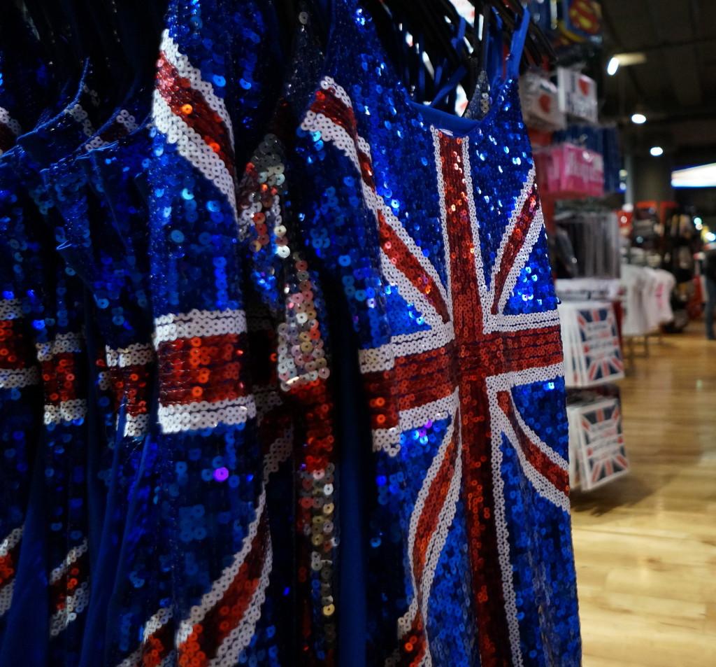 london unique gift souvenir tank top sparkly dressy british flag