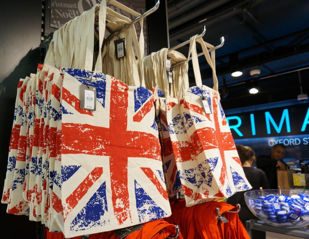 gift london primark souvenir british flag tote