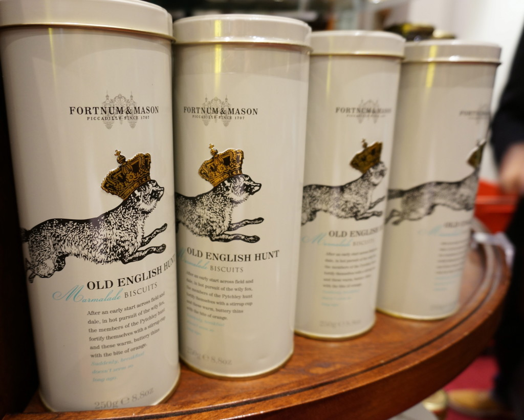 Fortnum and Mason biscuit cookie tins fox