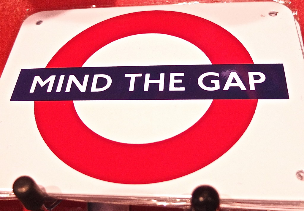 london transport museum gift shop souvenir mind the gap