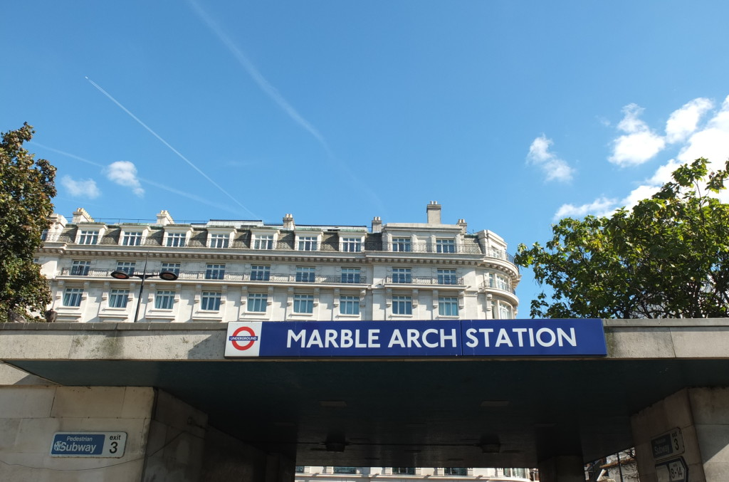 Marble arch station sign london