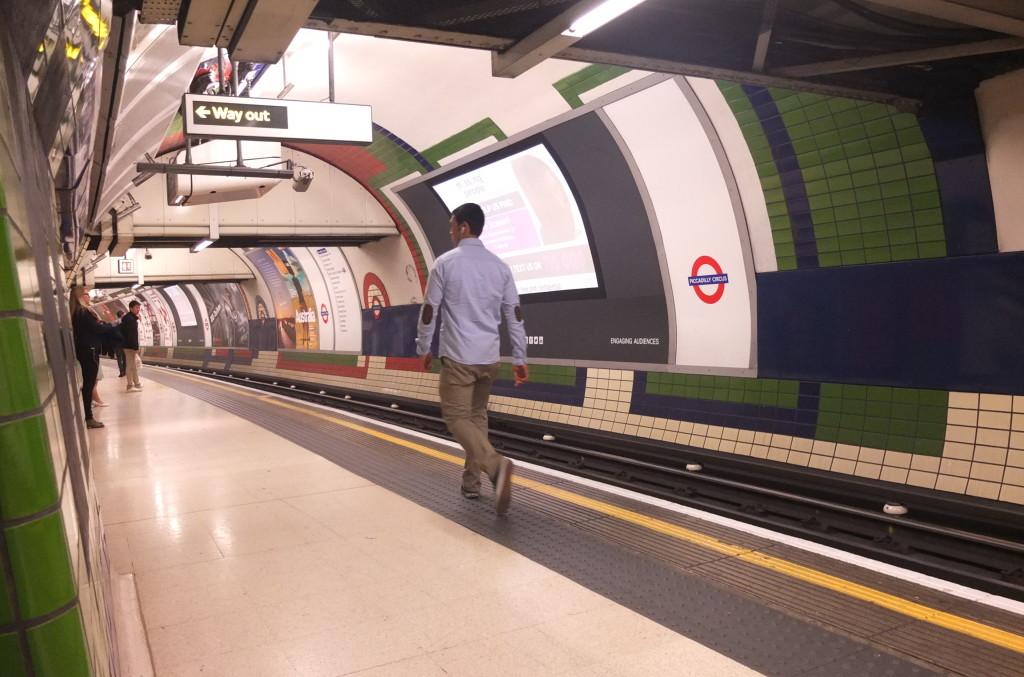London underground london tube platform