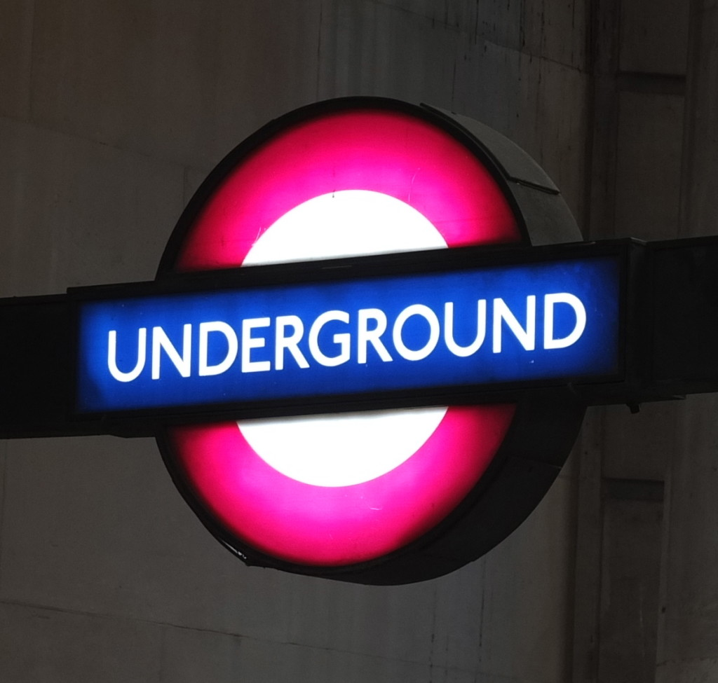 London underground sign tube sign