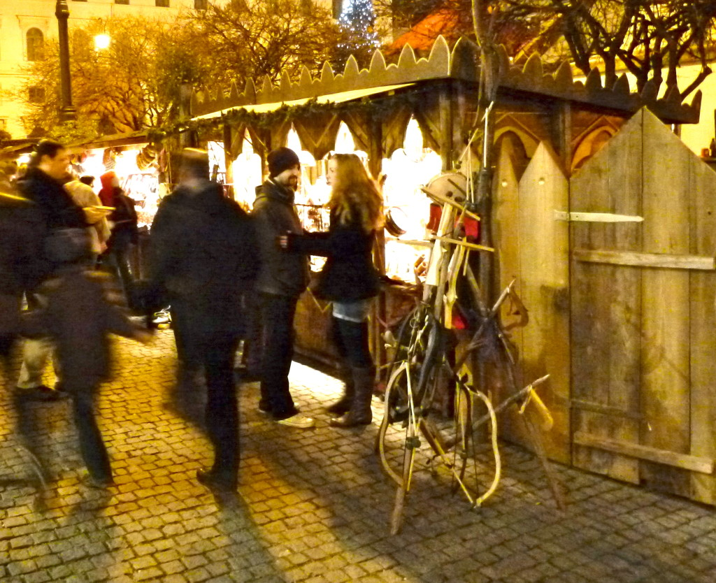 Munich medieval christmas market german medieva weapons bow arrow