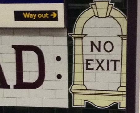 way out London underground london tube platform