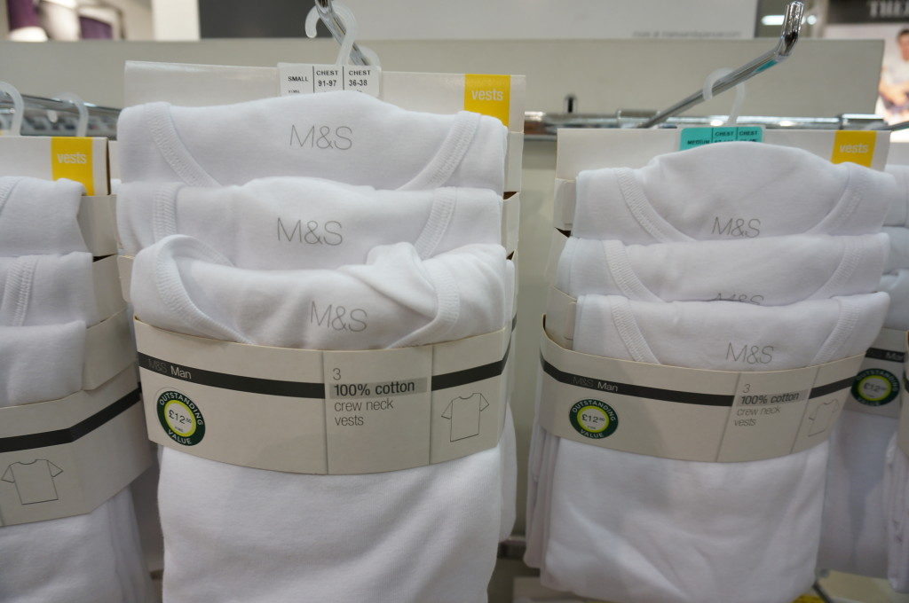 Marks and spencer men's undershirts
