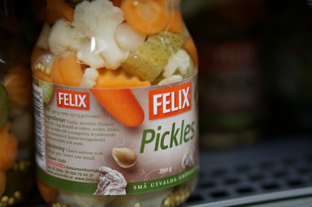 Swedish pickled vegetable salad
