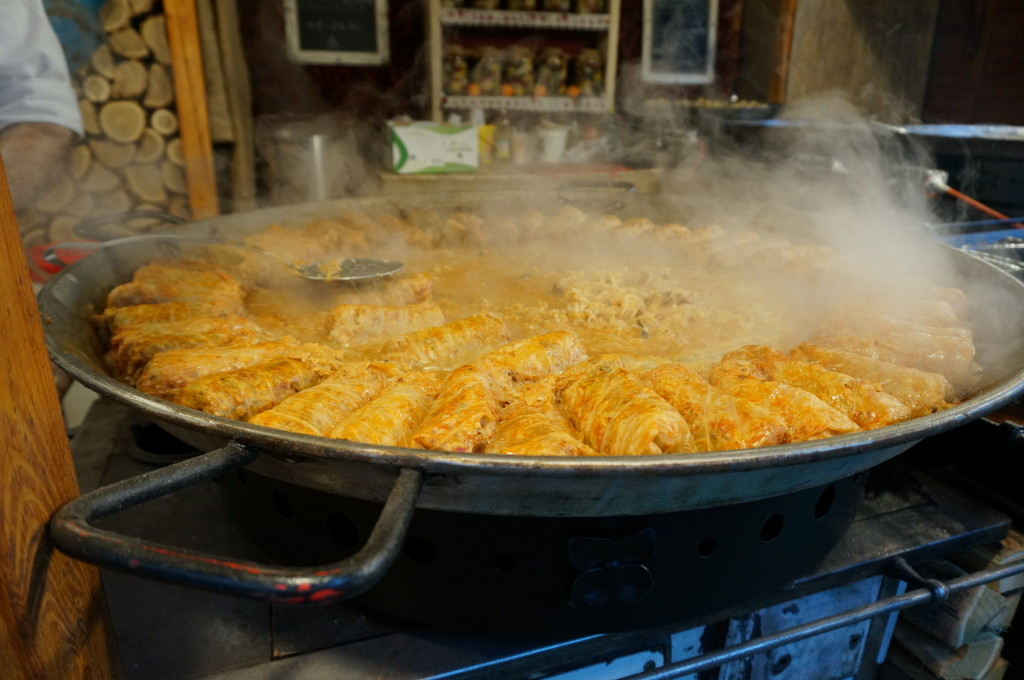 best hungarian food stuffed cabbage budapest christmas market fair