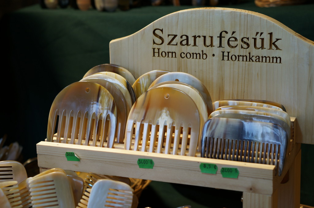 budapest christmas market souvenir hungarian horn combs handmade craft christmas market fair