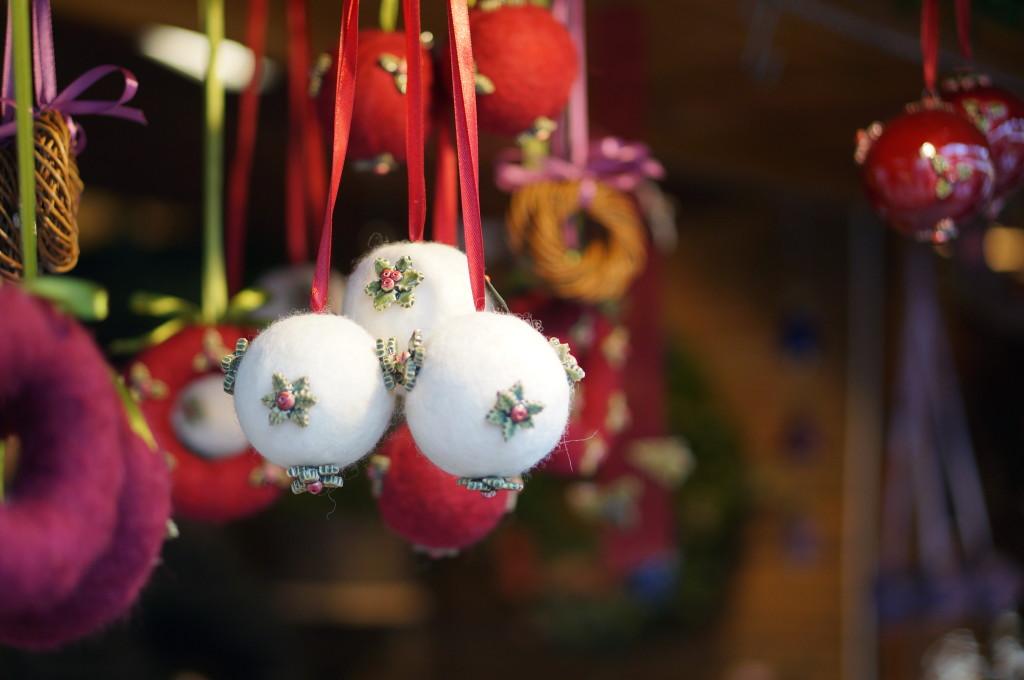 Budapest Christmas market Souvenir ornament balls.