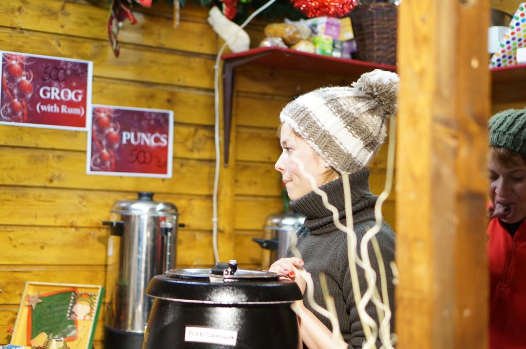 buapest christmas market fair punsch gluwein stall booth