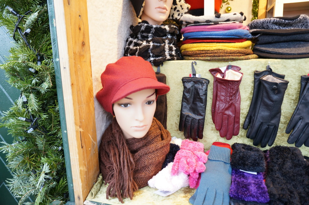 Schonbrunn Palace Christmas Market vienna hand made wool hat vendor stall