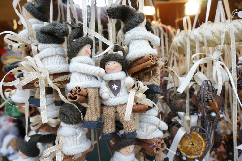 Schonbrunn Palace Christmas Market in Vienna handmade ornaments elves