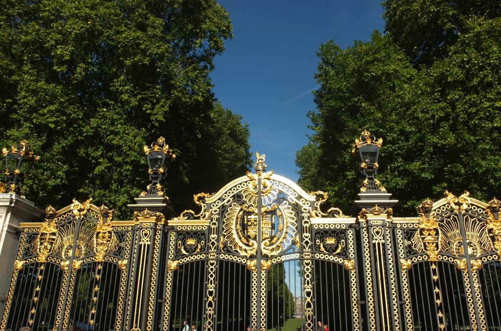 Buckingham Palace's gates London