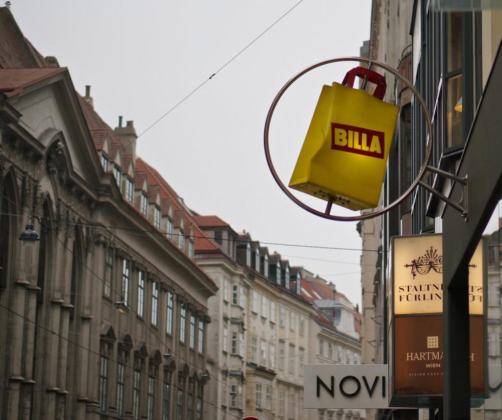 austrian grocery store supermarket billa