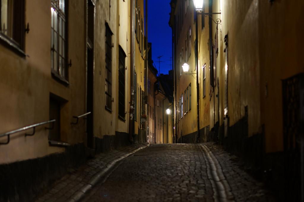 gamla stan stockholm street night