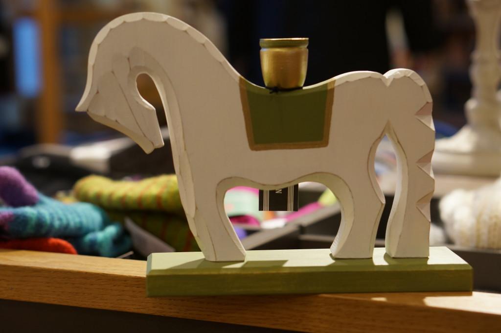 dala horse candle wood souvenir sweden stockholm
