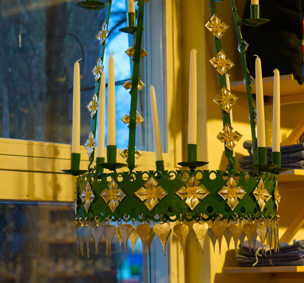 Swedish candle chandelier best souvenir stockholm green colorful elaborate