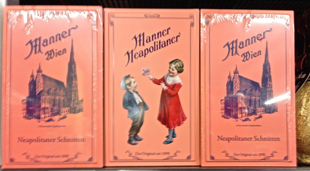 manner cookies pink vintage packaging