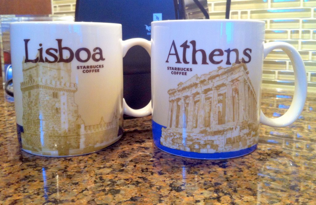 starbucks city mug lisbon athens travel souvenir collect