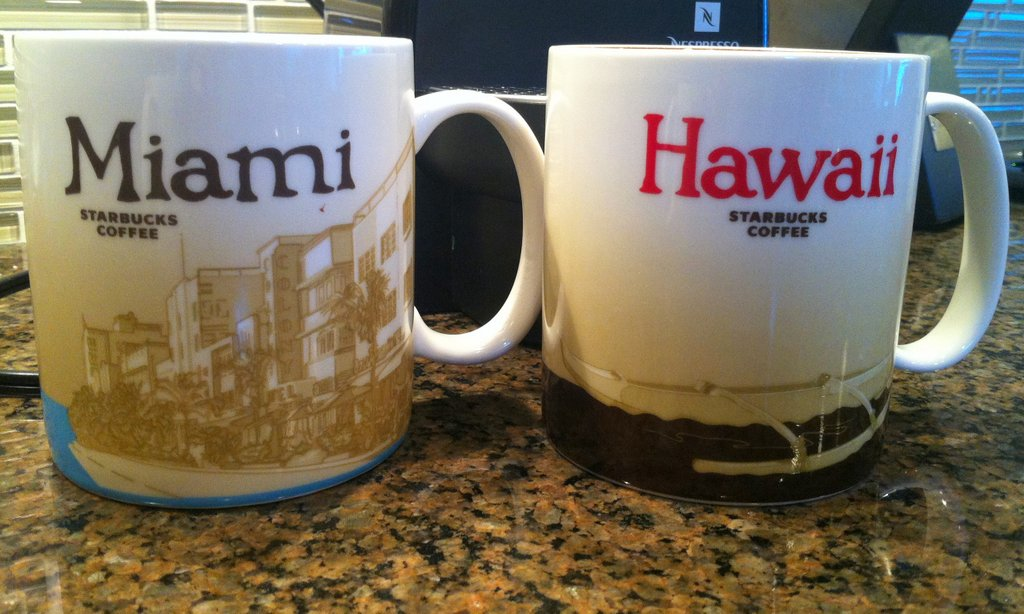 starbucks miami mug starbucks hawaii mug collect city maug