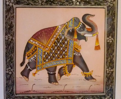 souvenir india Silk Elephant Painting