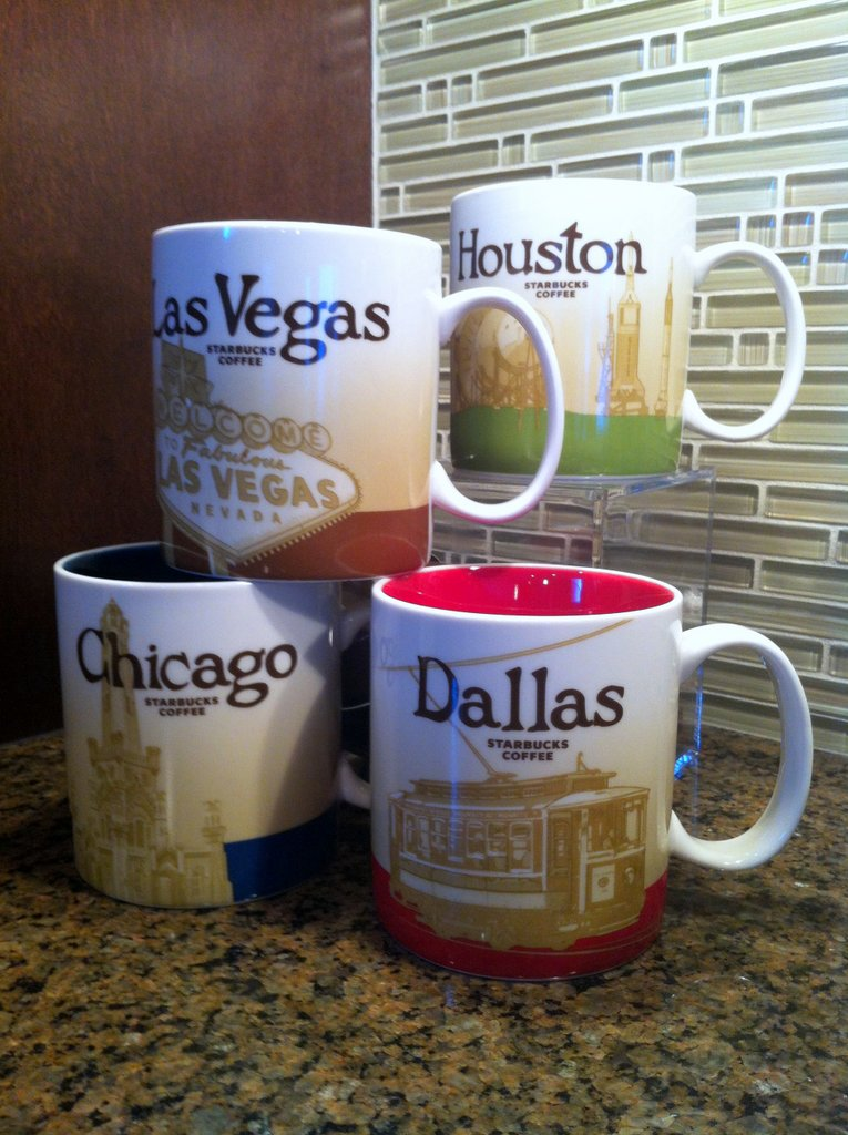 starbucks travel souvenir las vegas mug starbucks houston mug starbucks chicago mug starbucks dallas mug