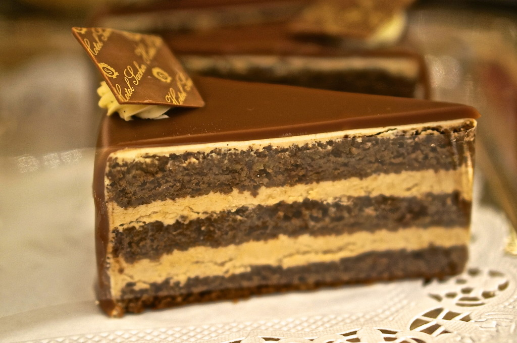 sacher cafe cake chocolate vienna cream filled
