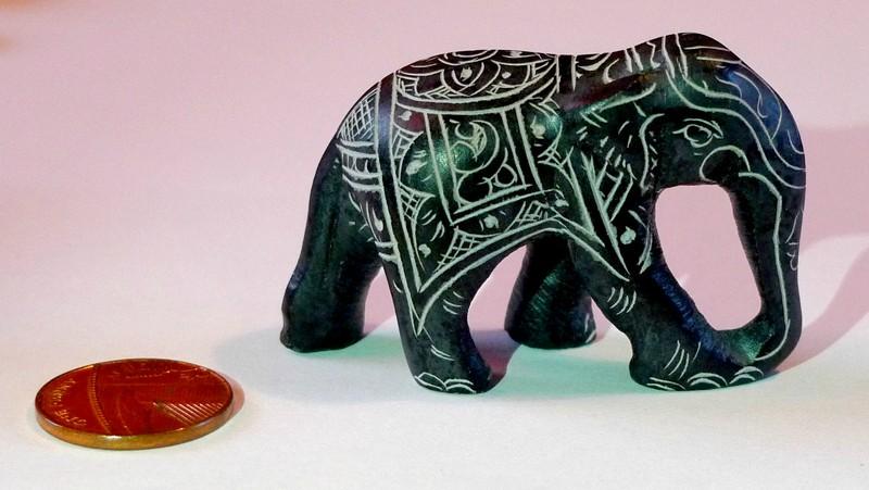 souvenir kochi india Carved Stone Elephant