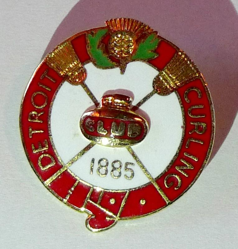 Detroit souvenir Curling Pin Badge