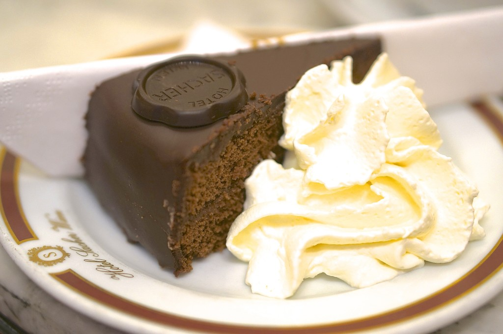 Cafe Sacher sacher torte cake cream