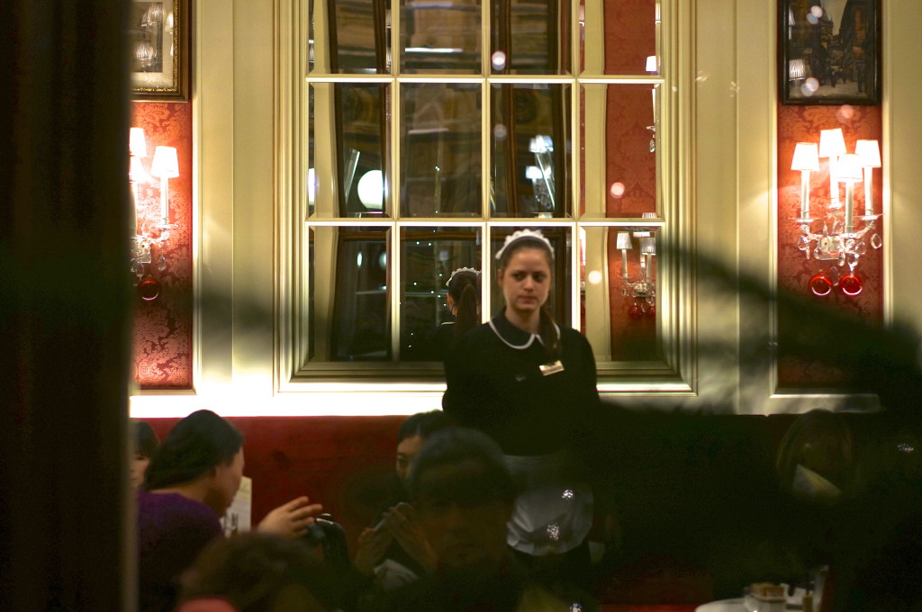 cafe sacher waitress elegant room