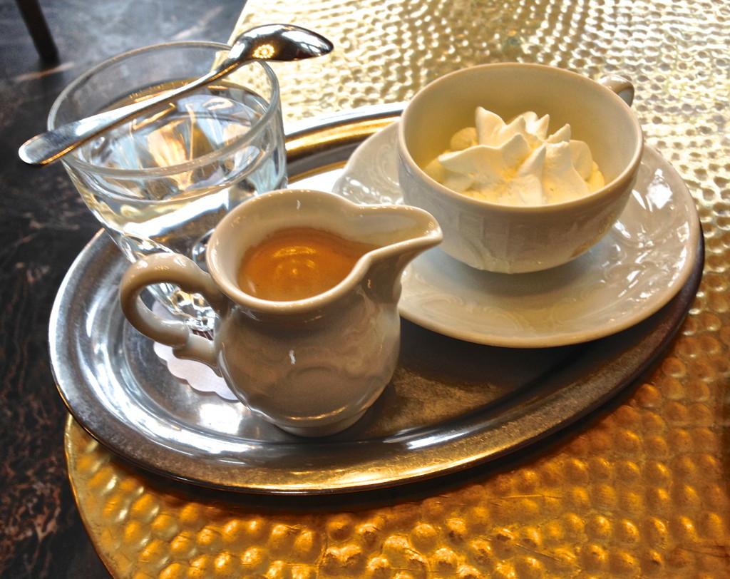 Vienna coffee with cream austria viennese