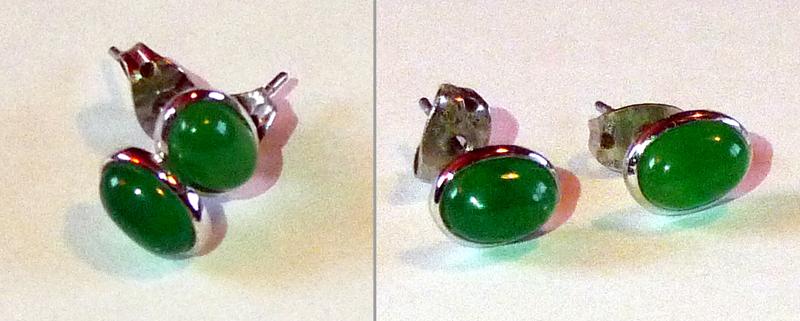 taiwan souvenir tapaei Jade Stud Earrings