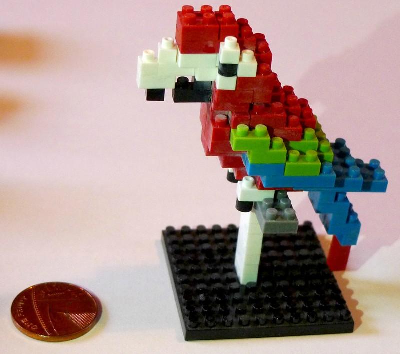 singapore souvenir Nanoblocks Macaw