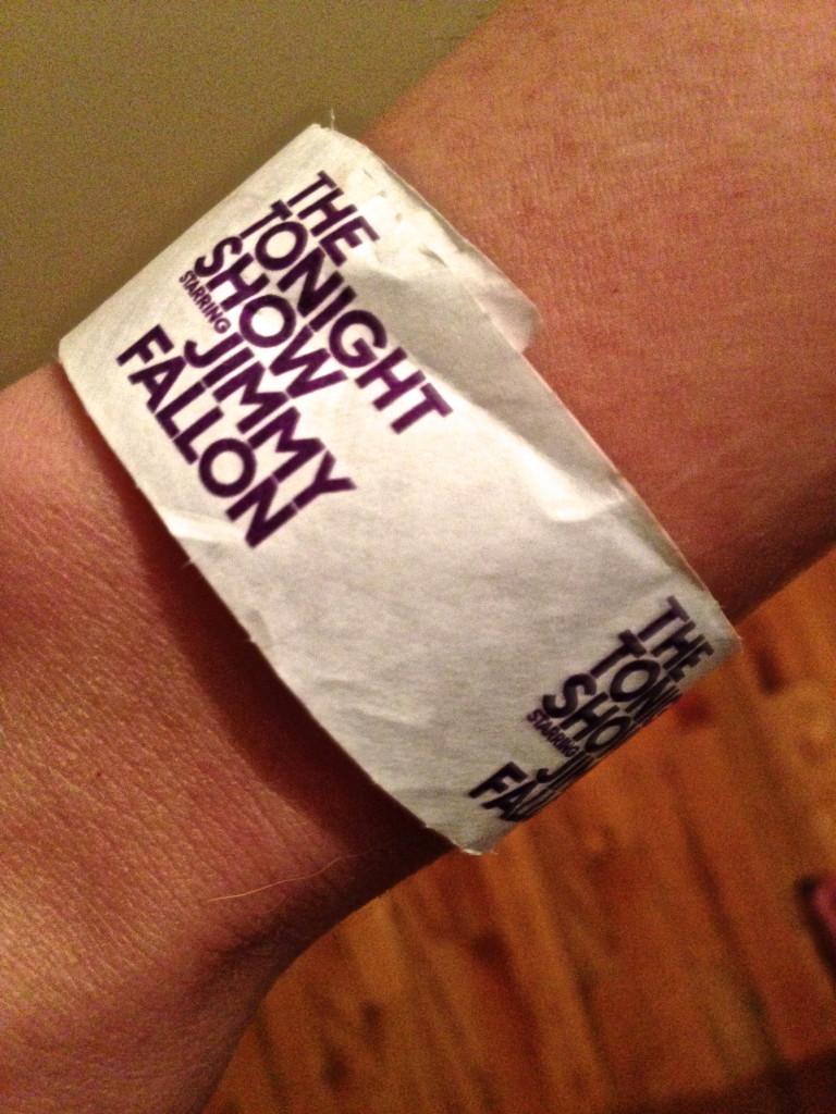 tonight show starring jimmy fallon wristband nyc