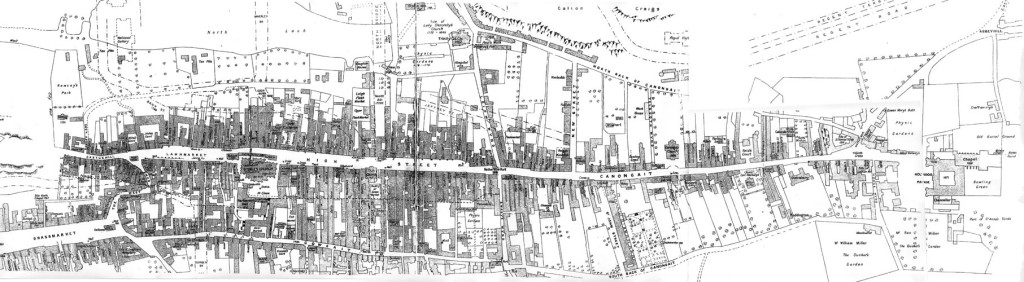 Royal Mile, Edinburgh, map