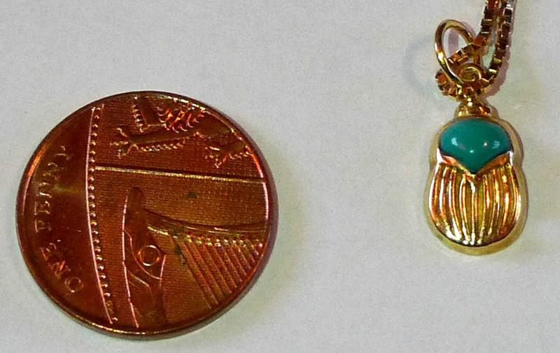 egypt souvenir Scarab Beetle Pendant