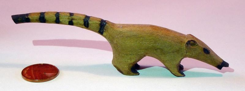 Iguazu Falls souvenir argentina Wooden Coati Figurine
