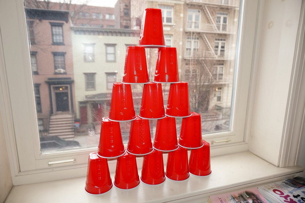 red solo cups stacked pyramid party cups drinking games america united states us