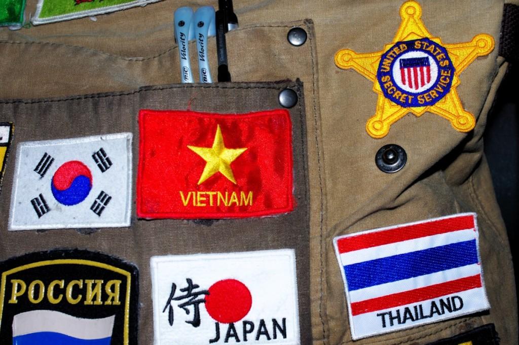 souvenir patch badge vietnam thailand japan secret service russia
